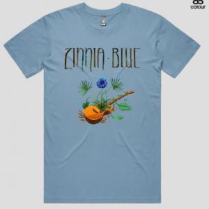 Zinnia Blue T-Shirt - Blue