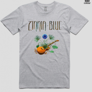 Zinnia Blue T-Shirt - Grey