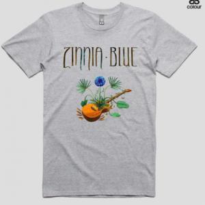 Zinnia Blue T-Shirt - Grey